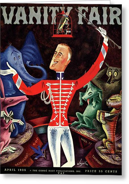Roosevelt The Ringleader Greeting Card by Constantin Alajalov