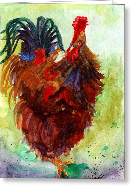 Roosta  Greeting Card by Anderson R Moore