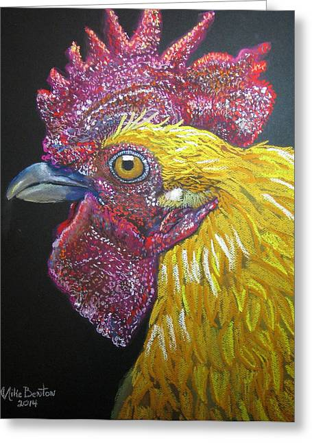 Rooster Profile Greeting Card