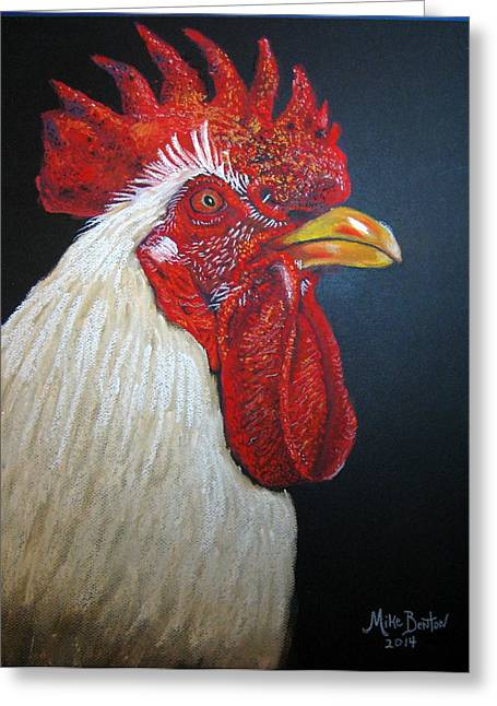 Rooster Profile#2 Greeting Card