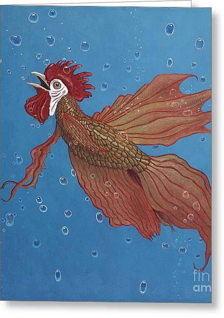 Roosterfish Iv Greeting Card by Fred-Christian Freer
