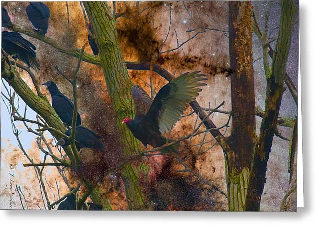Roosting Vultures Greeting Card