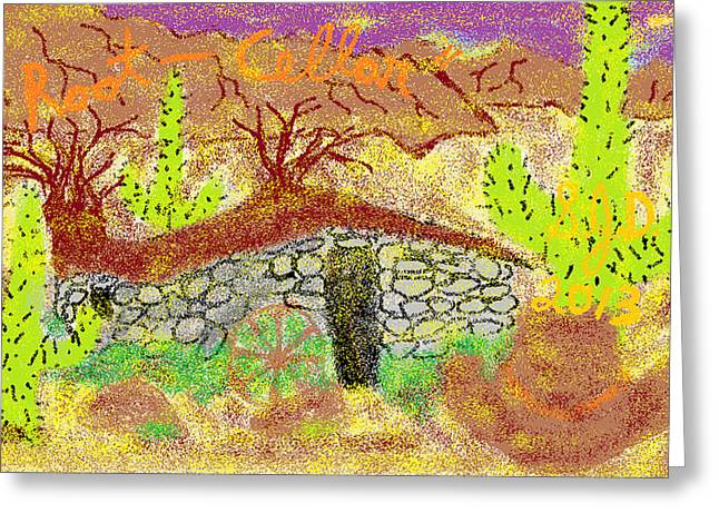 Root Cellar Greeting Card by Joe Dillon