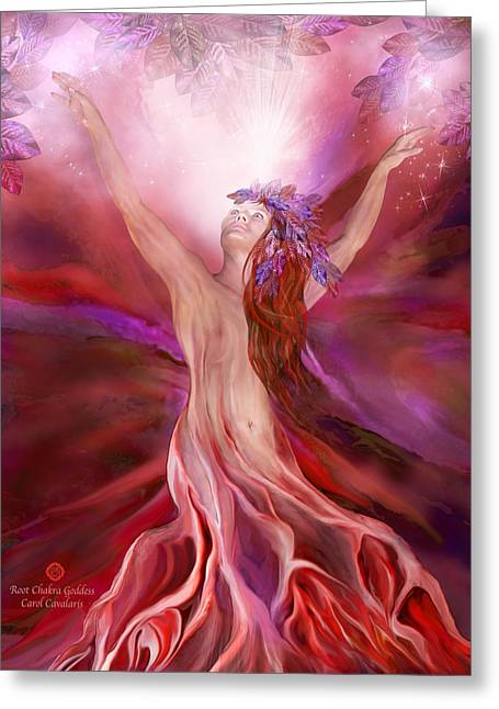 Root Chakra Goddess Greeting Card