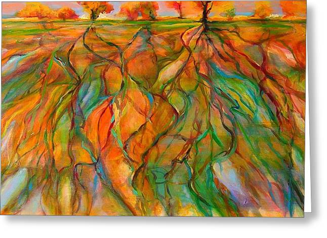 Roots Greeting Card by Mary Schiros