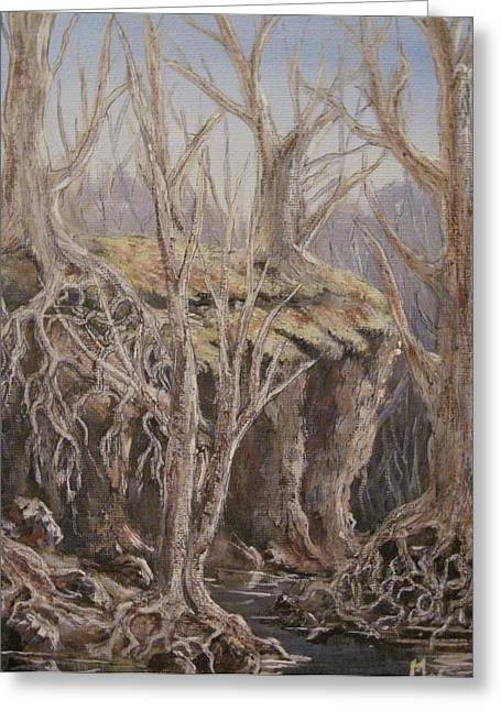Greeting Card featuring the painting Roots by Megan Walsh