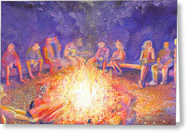 Roots Retreat Campfire Jam Greeting Card