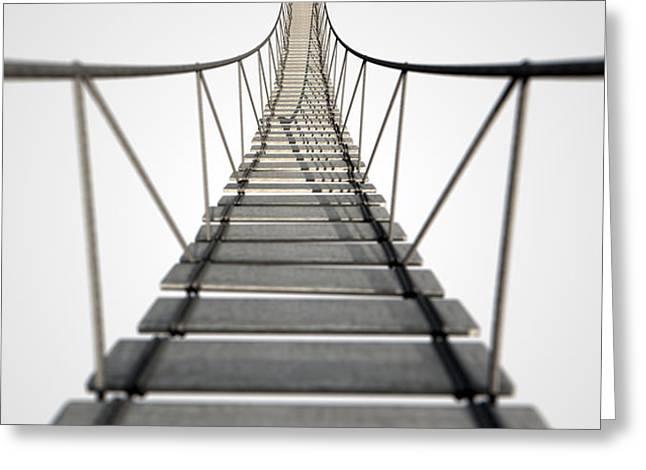 Rope Bridge Greeting Card by Allan Swart