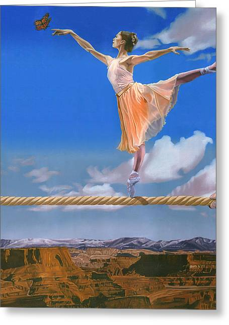 Rope Dancer Greeting Card by Michael Bridges