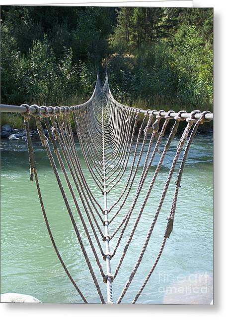 Rope Foot Bridge Greeting Card