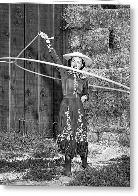 Rope Spinning Actress Greeting Card
