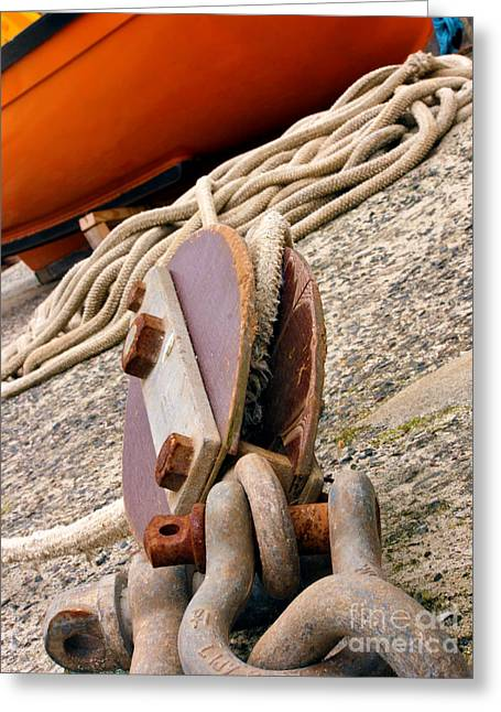 Ropes And Chains Greeting Card by Terri Waters