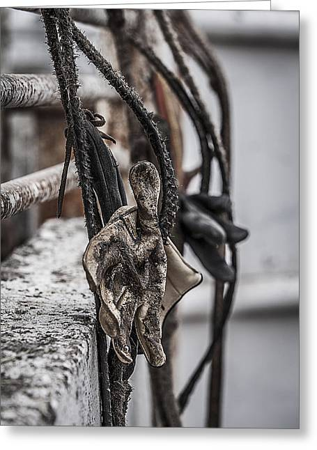 Ropes And Gloves Greeting Card by Amber Kresge