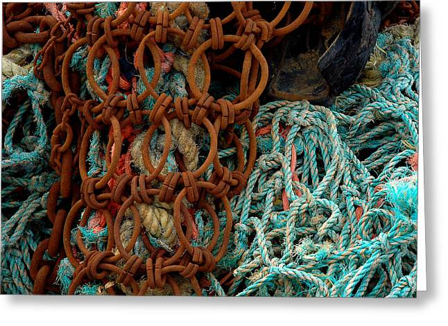 Ropes And Rusty Wires Greeting Card