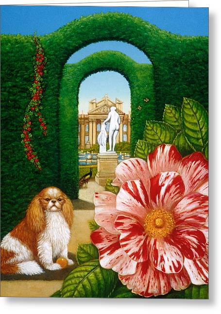 Rosa Mundi, 1995 Oils And Tempera On Panel Greeting Card