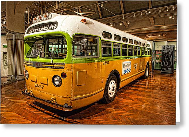 Rosa Parks Bus Greeting Card