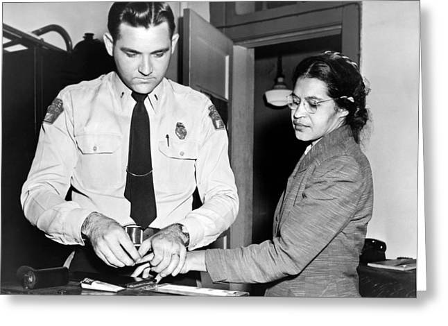 Rosa Parks Gets Fingerprinted Greeting Card