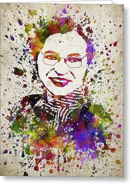 Rosa Parks In Color Greeting Card by Aged Pixel