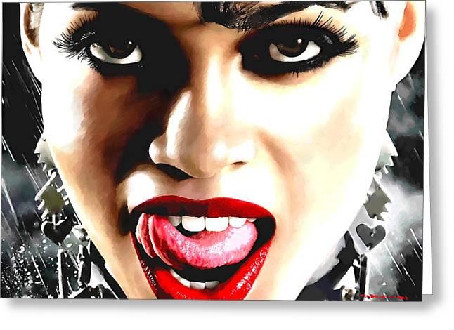 Rosario Dawson As Gail @ Sin City Greeting Card
