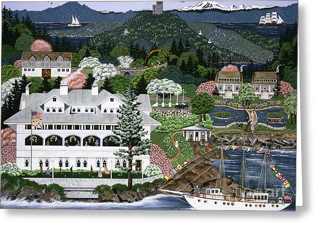 Greeting Card featuring the painting Rosario Resort by Jennifer Lake