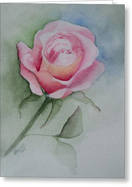 Rose 1 Greeting Card by Nancy Edwards