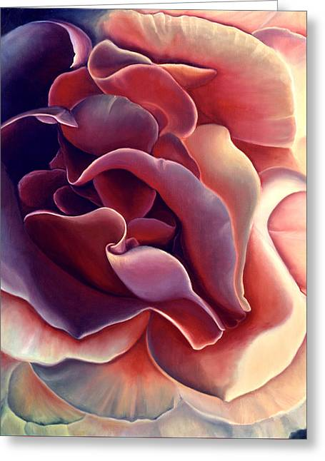 Rose Greeting Card by Anni Adkins