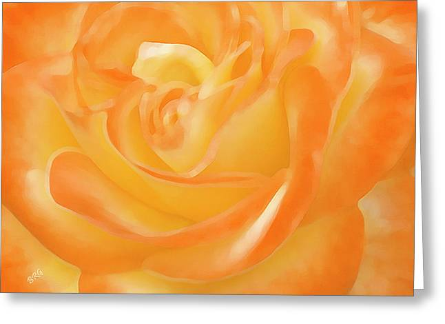 Rose Greeting Card by Ben and Raisa Gertsberg