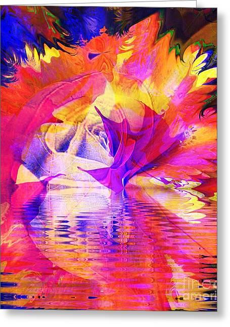 Rose Bloom Sunset Greeting Card