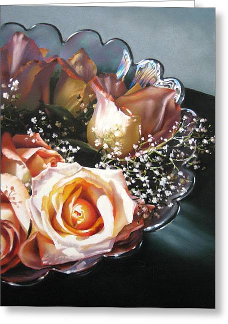 Rose Bowl Greeting Card by Dianna Ponting