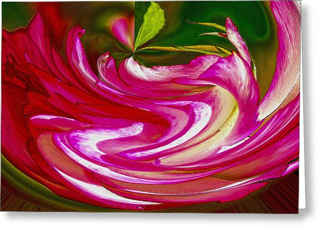 Rose Bowl Greeting Card by Nancy Marie Ricketts