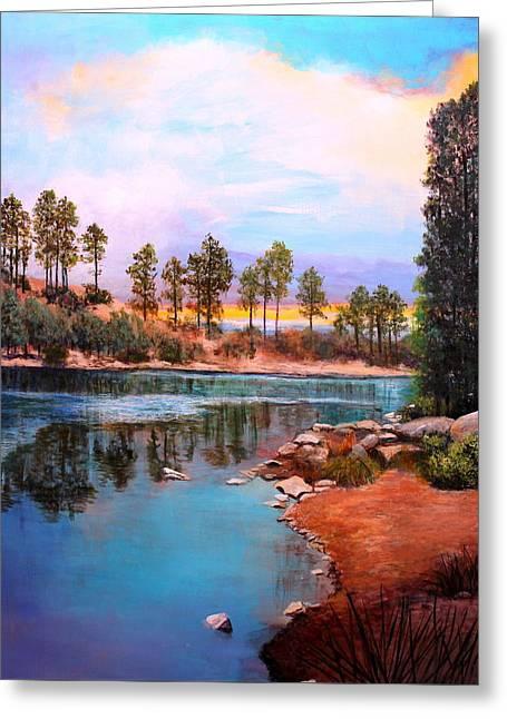Rose Canyon Lake 2 Greeting Card by M Diane Bonaparte