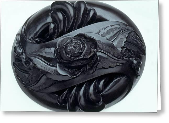 Rose Carved In Jet Greeting Card by Dorling Kindersley/uig