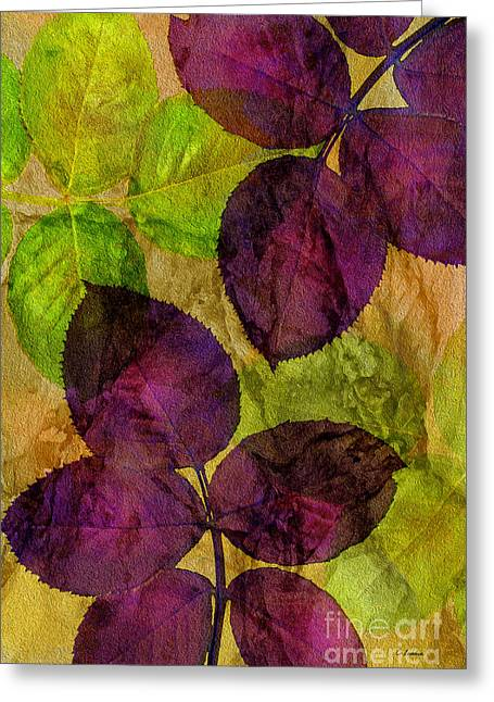 Rose Clippings Mural Wall Greeting Card