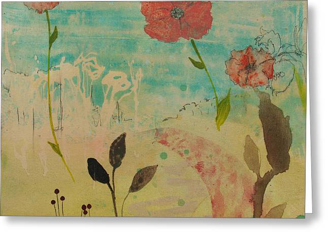 Rose Colored Path Greeting Card by Robin Maria Pedrero