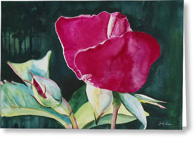 Rose Coming To Life Greeting Card by Judy Loper