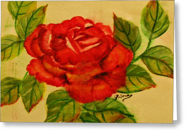 Rose Greeting Card by Dina Jacobs