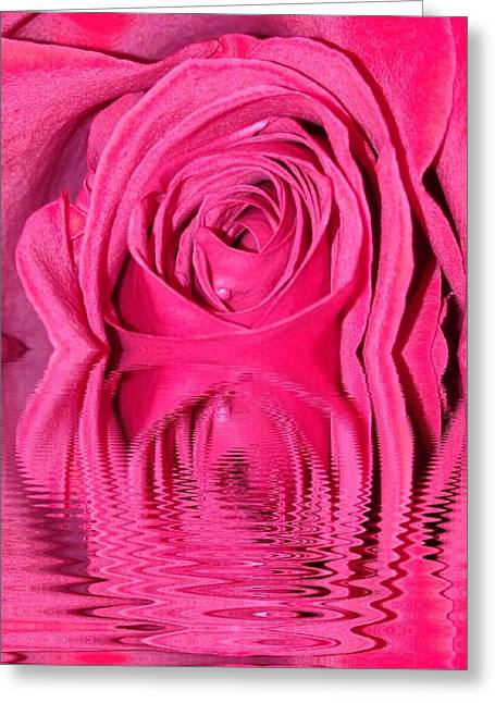 Rose Drops Greeting Card