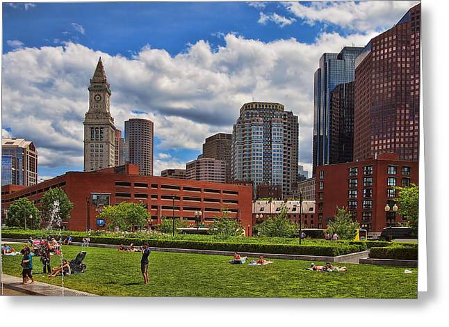 Rose Fitzgerald Kennedy Greenway Greeting Card by Joann Vitali