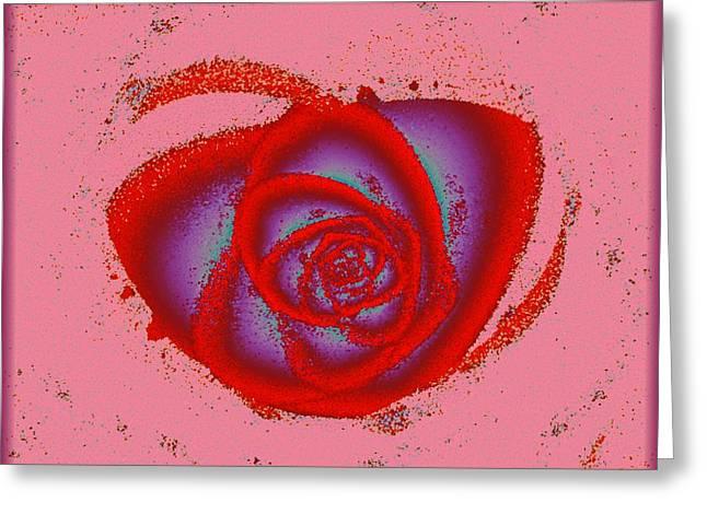 Rose Heart Greeting Card by Anastasiya Malakhova