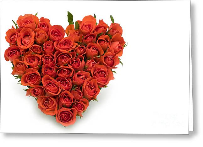 Rose Heart Greeting Card by Boon Mee