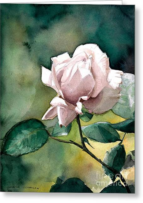 Watercolor Of A Lilac Rose  Greeting Card