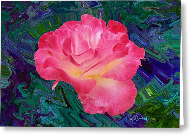 Rose In The Matter Of Your Hand V7 Greeting Card