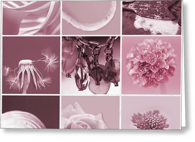 Rose Mosaic Greeting Card by Lisa Knechtel