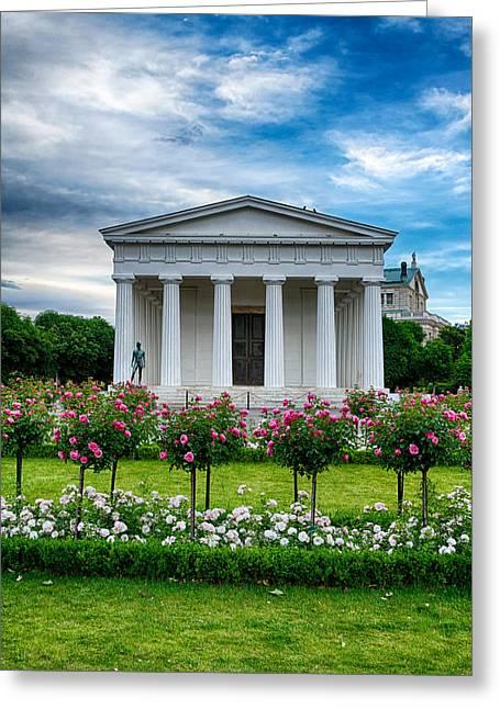 Rose Park Greeting Card by Viacheslav Savitskiy