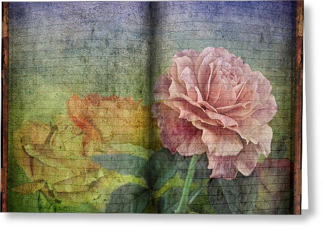 Greeting Card featuring the digital art Rose Poem by Shirley Mangini