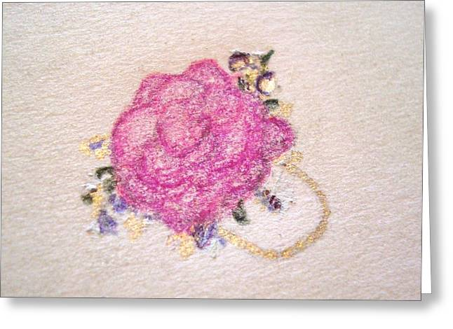 Rose Ring Greeting Card by Christine Corretti