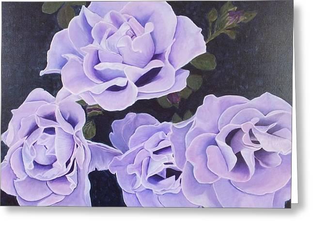 Rose Ripples Greeting Card by Vicki Watson