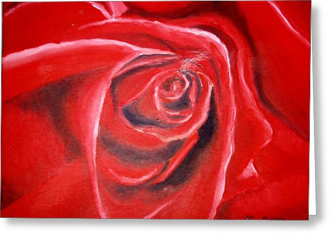 Rose Greeting Card by Sandra Yegiazaryan