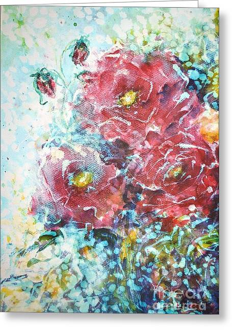 Rose Summer Delight Greeting Card by Kathleen Pio