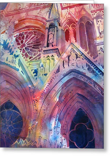 Rose Window Greeting Card by Kris Parins